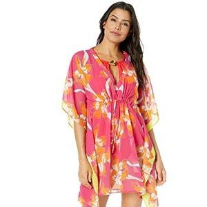 Echo Lily Silky Butterfly Beach Cover-Up NWT